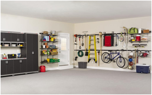 keeping your garage organized with different types of shelving